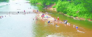 Over use of a popular spot on the Rappahannock River threatens the river.
